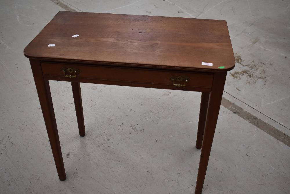 A Victorian stained frame side table, width approx. 65cm