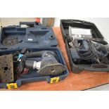 Two cased Pro sanders, combination and belt, both 240v