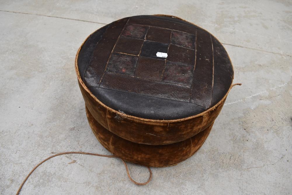 A vintage pouffe