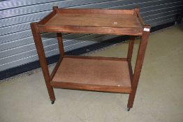 A vintage mahogany and ply tea trolley of large proportions, approx dimensions 81 x 48 x 85cm