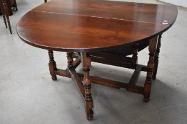 A nice quality reproduction, probably Titchmarsh and Goodwin, gateleg dining table (selling for St