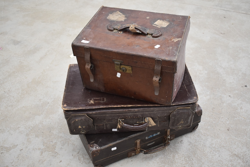 Three antique and vintage travel cases