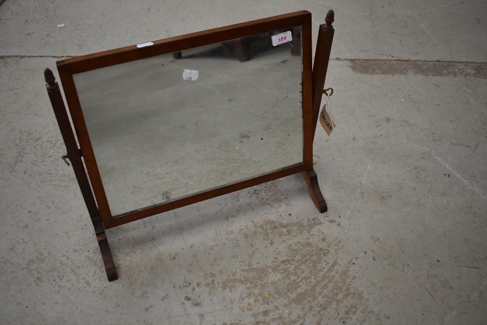 A 19th Century mahogany frame toilet mirror
