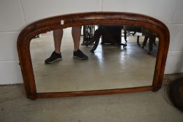 A 19th Century over mantel or similar wall mirror, width approx. 97cm