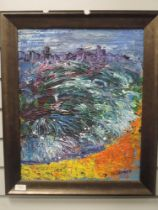 An oil painting, Isherwood- possibly James Lawrence Isherwood, London Thames, signed, 49 x 39cm,