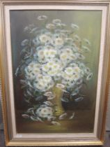 An oil painting, Janey Lee, still life, signed, 75 x 50cm, plus frame