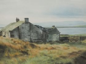 A watercolour, Barry Tomlinson, Moorland scene Ashworth, signed and dated, and attributed verso,