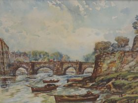 Two watercolours, attributed to Josiah Wood Whymper, Chester scenes C19th, one initialled JWW, 15