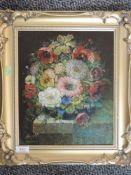 An oil painting, Reynold, still life, signed, 30 x 25cm, plus frame