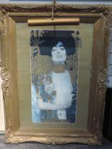 A print, after Gustav Klimt, Judith, 80 x 40cm, plus frame and glazed