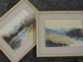 A pair of watercolours, Lakeland landscapes, indistinctly signed and dated 1959, each 19 x 25cm,