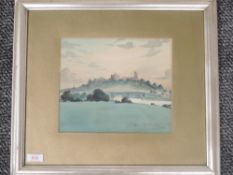 A Watercolour, T Barker Shuttleworth, Lancaster vista, signed and dated (19)05, 21 x 25cm, plus