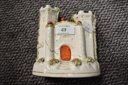 A selection of antique Staffordshire flat back figures including spill vase and highlander