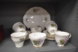 A bone china part tea service marked Dorchesters to base