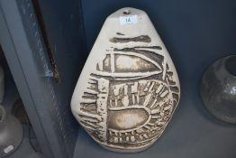 A mid century studio pottery lamp base by Tremaen Newlyn Bojay by Peter Ellery 45cm tall