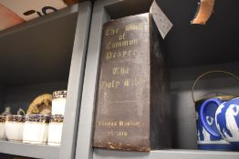 A large leather bound Book of common prayer by Thomas Baskett