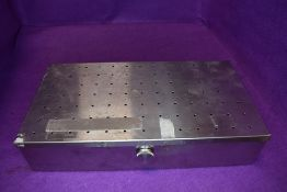 A local interest medical instrument stainless steel case or box from Victoria Hospital Blackpool