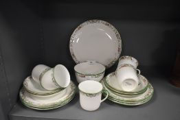 A transfer printed part tea service by Birks Rawlins and co