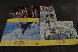 Three 1980's Smiths Promotional Movie Posters, 007 James Bond A View To A Kill, all different action