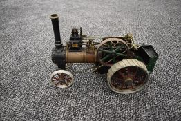 A 3/4 Inch Scale Michael Holden Kit Built Live Steam Traction Engine having single cylinder