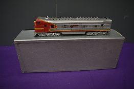 A Hallmark Models Inc American Brass HO scale 1 & 10 Bulldog Diesel Santa Fe Locomotive, in original