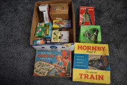 A selection of modern diecasts including Corgi, Revell etc along with a battery operated model