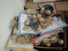 A box containing 36 The Teddy Bear Collection magazines with bears present, most in sealed packages,