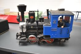 A Lehmann LGB G scale 0-4-0 Tank Engine 2, in blue and black with driver 2774