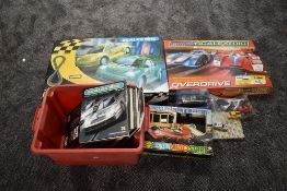 Two modern Scalextric sets, Bettle Cup and Overdrive, both complete and appear unused, a vintage