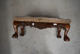 An early 20th Century stained frame footstool