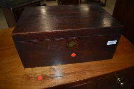 A 19th Century mahogany lap desk, dimensions 36 x 24 x 16cm