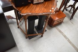 A 19th Century mahogany occasional table having shaped top