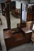 An early to mid 20th Century mahogany dressing table