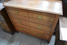 A late 19th Century chest of two over two drawers , width approx. 100cm, depth 46cm