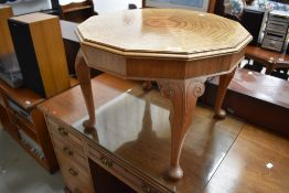 A dodecagonal coffee table , diameter approx. 59cm