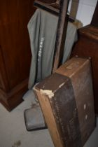 A 1940s Hoover vacuum cleaner and a selection of original tools