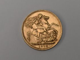 A George V 1912 Gold Sovereign