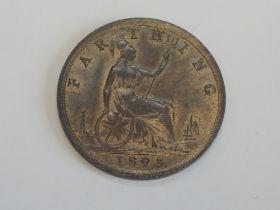 A Queen Victoria Bun Head 1895 Bronze Farthing
