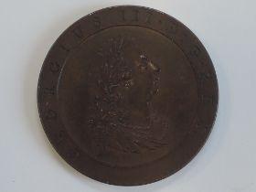 A George III 1797 Half Penny Pattern, observe side GEORGIUS III.D.G.REX., reverse BRITAINNIA 1797