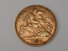 A Edward VII 1903 George & Dragon Gold Half Sovereign