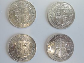 Four George V Silver Half Crowns, 1926 2nd issue, 1926 3rd issue modified effigy, 1927 3rd issue