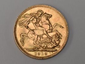 A George V 1918 Gold Sovereign