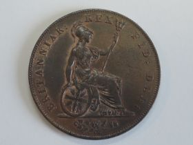 A George IV 1827 Copper Half Penny