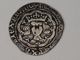 A Henry V 1413-1422 Groat, normal frowning bust, mullet on right shoulder