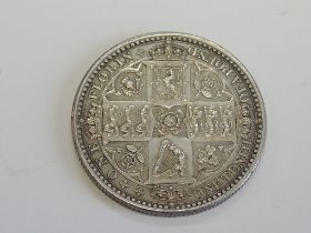 A Victorian Godless 1849 Silver Florin with WW