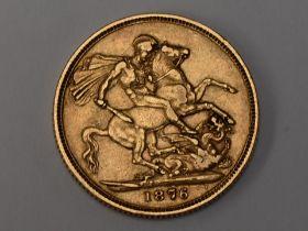 A Queen Victoria 1876 Gold Sovereign having Sydney Mint Mark