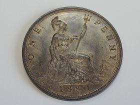 A Queen Victoria Bun Head 1880 Bronze Penny