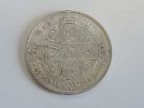 A Victorian Gothic Type 1852 MDCCCLII Silver Florin