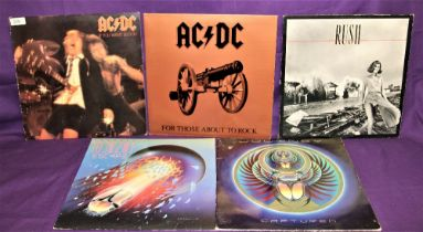 A lot of rock interest albums - AC/DC - Journey and Rush