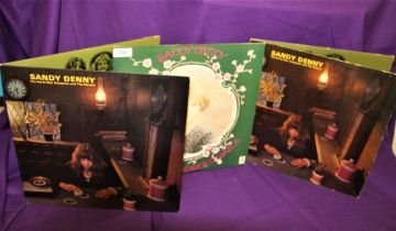 A lot of three album by Sandy Denny with ' Northstar ' both being later Island issues
